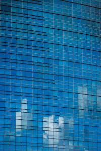 Cloud reflection calstrs building west sacramento allan urban reflection DSC 6881