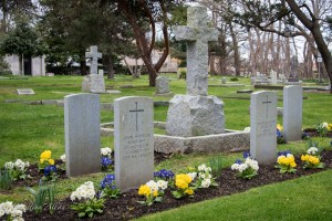 Cross soldier gravestones ross bay cemetery victoria b.c. canada allan  0956