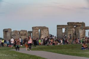 Dusk stonehenge summer solstice  england allan