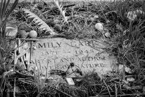 Emily Car Gravestone black and white ross bay cemetery victoria b.c. canada allan 1020