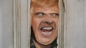 Jack Nicholson Donald Trump the shining mash-up collage allan Donack