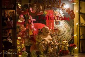 Fan Tan Trading shop buddha chinatown night victoria b.c. canada allan 1146