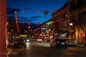 Fisgard Chinatown street night victoria b.c. canada allan 1141