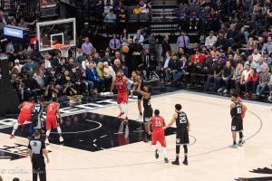 Game shot 1 Sign Equality Night Sacramento Kings Allan DSC 8860