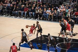 Game shot 2 Sign Equality Night Sacramento Kings Allan DSC 8861