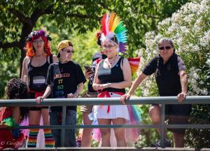 Girl with rainbow mohawk socks 6102018 gay pride sacramento allan