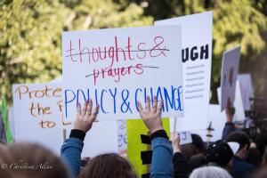 Hands with fingernails and thoughts prayers policy sign March for Our Lives rally protest guns sacramento california 3242018 DSC 9023