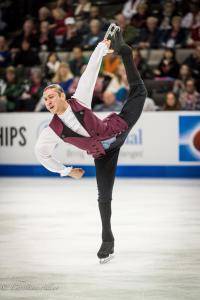 Jason Brown Leglift Men's SP Prudential U.S. National Figure Skating Championships San Jose Allan DSC 7246