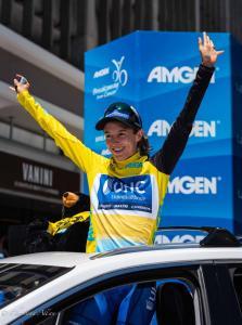 Katie Hall United Healthcare winner yellow jersey  amgen tour california 5192018  sacramento allan DSC 9718