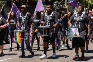 Kings drumline gay pride parade lgbtq sacramento california allan