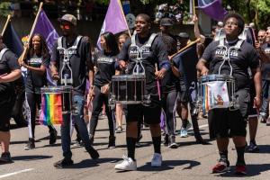 Kings drumline gay pride parade lgbtq sacramento california allan