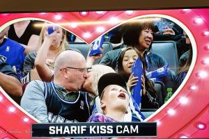 Kiss Cam Sign Equality Night Sacramento Kings Allan DSC 8945
