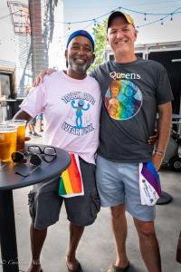 Mike Coleman Rob Kesselring 6292018 River Cats Equality Night West Sacramento Allan-0828