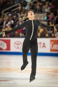 Nathan Chen Reaching Men's SP Prudential U.S. National Figure Skating Championships  San Jose Allan DSC 7009