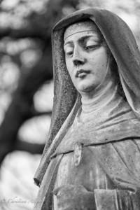 Nun Saint clare monument ross bay cemetery victoria b.c. canada allan 0946