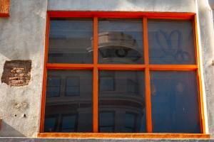Orange-windown-frame-reflection-downtown-sacramento-urban reflections allan DSC5295