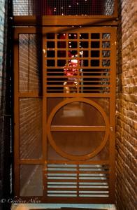 Orange alley gate chinatown night victoria b.c. canada allan 1148