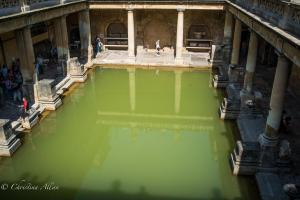 Roman Baths reflection Great Bath England Allan DSC 3137