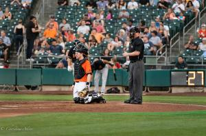 Ryan Hanigan catcher 6292018 river cats raley field west sacramento allan DSC 1047