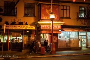 Seafood restaurant night chinatown victoria b.c. canada allan 1150