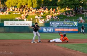 Second base slide 6292018 River Cats Equality Night West Sacramento Allan-1098