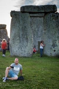 Selfie stonehenge summer solstice  england allan