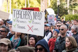 Teacher with sign March for Our Lives rally protest guns sacramento california 3242018 DSC 8978