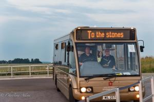 To the Stones bus stonehenge summer solstice  england allan