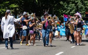 UC Davis Aggies band conductor trombone player sax gay pride parade lgbtq sacramento california allan DSC 0204
