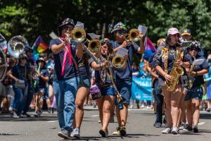 UC Davis Aggies trombones sax players gay pride parade lgbtq sacramento california allan DSC 0206