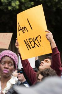 Young man with Am I Nex sign March for Our Lives rally protest guns sacramento california 3242018 DSC 9017